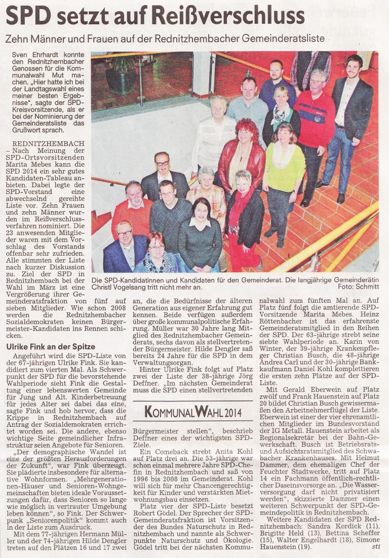 Artikel Nominierung GR 2014_ST 28.11.13