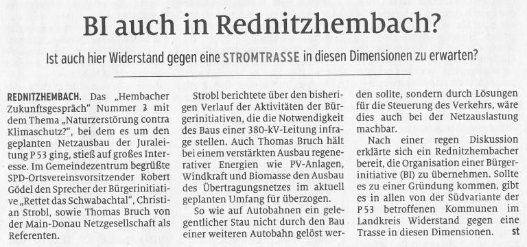 Artikel Schwabacher Tagblatt, Ausgabe 07.12.2019