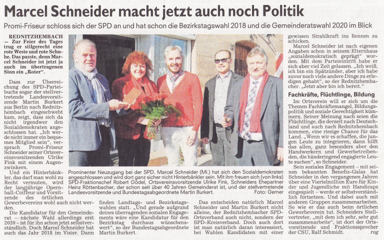 Marcel Schneider tritt der SPD bei